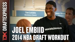 Joel Embiid 2014 NBA Draft Workout for NBA Scouts