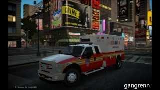 GTA4:EFLC - [REL] 2013 Ford F350 - FDNY ambulance