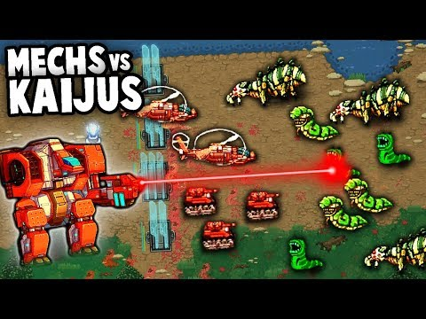 Huge JAEGER MECHS vs KAIJU Monsters! Pacific Rim Defense Game! (Mechs vs Kaijus Gameplay)