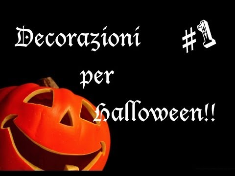 tutorial per due decorazioni per halloween