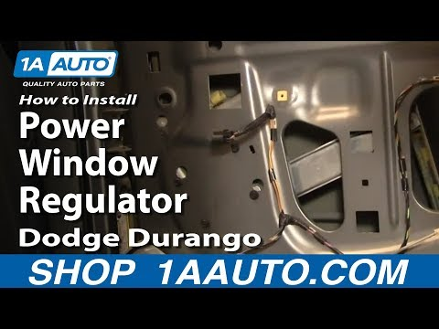 How To Install Replace Rear Power Window Regulator Dodge Durango 04-09 1AAuto.com