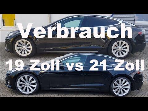 Verbrauch des Tesla Model S mit unterschiedlichen Felgen. 19 Zoll Slipstream vs 21 Zoll Turbine