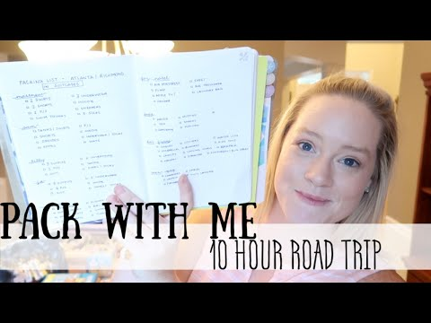 PACK WITH ME | 10 HOUR ROAD TRIP!