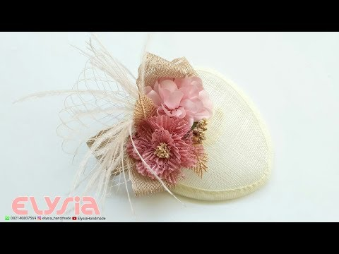 How To Make 👒 SINAMAY Fascinator Hat 👒 DIY By Elysia Handmade