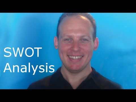 SWOT analysis part of a business plan, template and strategy example