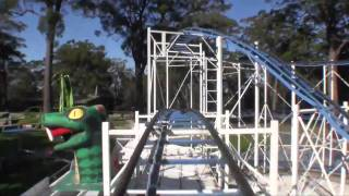 Merimbula Australia  city photo : Diamond Python Steel Roller Coaster Front Seat POV Magic Mountain Merimbula Australia