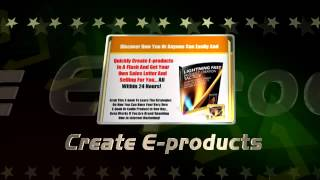 Create E-products YouTube video