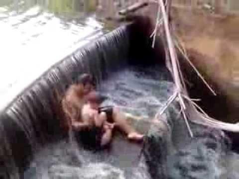 Banho na Represa da Fazenda Formosa do meu tio Adelar, em Amaporã, Nordestina - PR.
