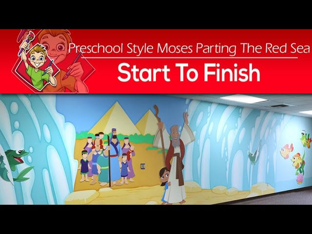 Creating a Preschool Moses Parting the Red Sea - Start to Finish