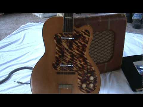 1952 KAY K-161 THIN TWIN GUITAR great video !