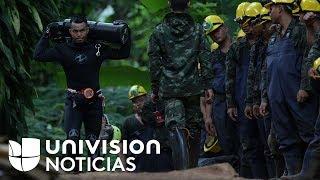 En un minuto: muere un buzo en las tareas de rescate de los 12 niños atrapados en Tailandia