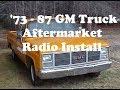 87 GM Truck Custom Autosound Radio Install