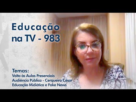 Volta às Aulas Presenciais | Audiência Pública - Cerqueira César | Educação Midiática e Fake News