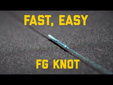 THE EASIEST And FASTEST Way To TIE An FG KNOT