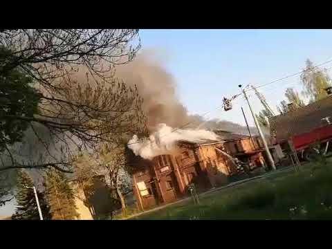 Wideo1: Pożar budynku stolarni we Wschowie