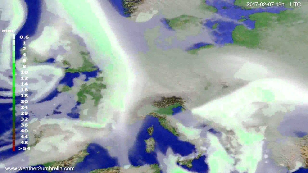 Precipitation forecast Europe 2017-02-03