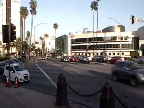 The Intersection of Santa Monica Blvd and Wilshire Blvd in Beverly Hills