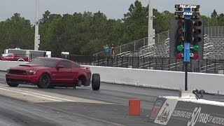 Mustang GT Loses Control Drag Racing BMW M5 - Road Test TV by Road Test TV
