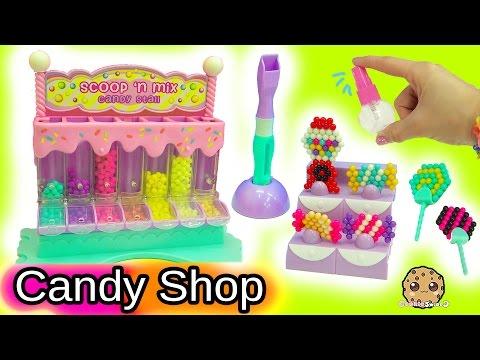 Queen Elsa and Princess Anna Shop At Beados Sweet Scoop 'N Mix Candy Shop