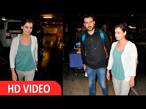 Dia Mirza Spotted At Airport