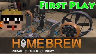 First Play: Homebrew | Sandlot (sandbox) Vehicle Building Game By Copy Bug Paste