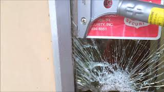 How to take out a broken window or Glass on a Commercial Door Tutorial