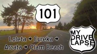 Arcata (CA) United States  city photos gallery : Northern California US 101: Eureka, Arcata at Sunset