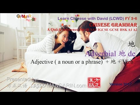 Chinese Grammar You Must Know - 地 Adverbial A Quick Reference for IB SAT IGCSE GCSE HSK A1 A2