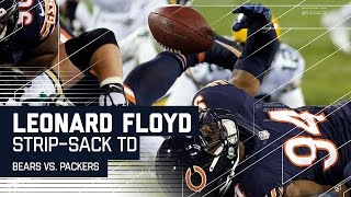 Leonard Floyd Strip Sacks Aaron Rodgers & Recovers for the TD!   Bears vs. Packers   NFL by NFL