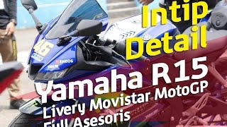 Video Yamaha  R15 155cc VVA Livery MotoGP Full Asesoris MP3, 3GP, MP4, WEBM, AVI, FLV April 2017