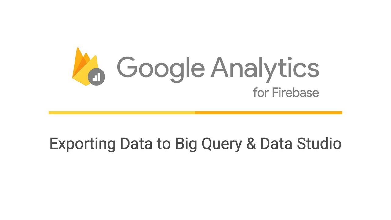 Exporting Data to BigQuery and Data Studio
