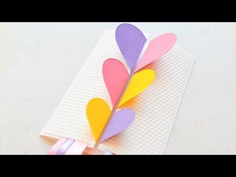 How to make greeting card valentines day hearts step how to make greeting card valentines day hearts step by step diy kartka walentynkowa m4hsunfo