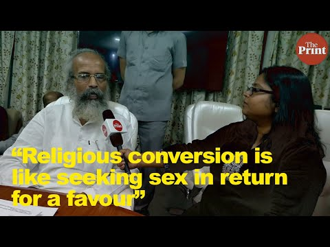Religious conversion is like seeking sex in return for a favour, says new minister Sarangi