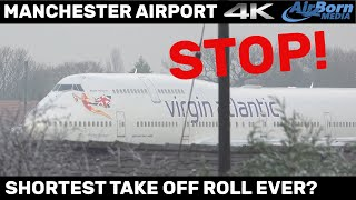 Video Shortest take off roll ever? Take Off Clearance Cancelled at last moment. Manchester Airport. MP3, 3GP, MP4, WEBM, AVI, FLV Maret 2019
