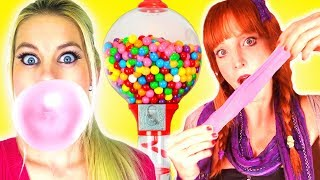 Download Lagu We Make Bubble Gum!!!  Easy DIY How To Make Gumballs & Awesome School Hacks! Mp3