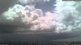 Cumulonimbus, pileus and shelf cloud visible from Campina Grande, Paraíba - December 25, 2015