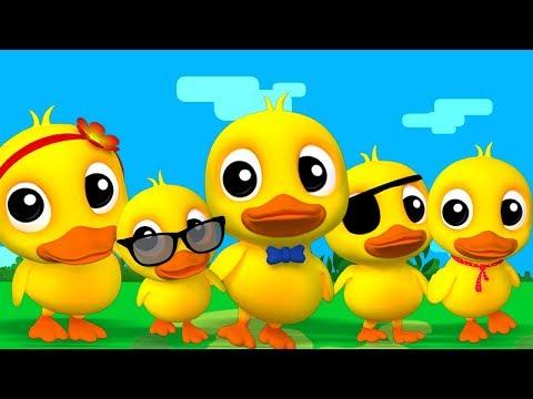 fünf kleine enten | Reim für Babys | Five Little Ducks | Preschool Song | Children Videos