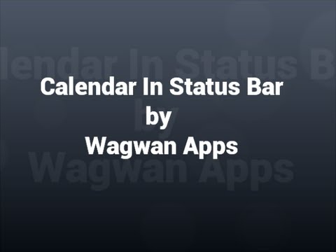 Video of Calendar Status Bar