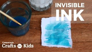 Making Invisible Ink isn't just a cool spy craft, it's also a fun science activity too! When the acid from lemon juice (and a little food coloring) is painted on top of your Invisible Ink (made from baking soda and water) the secret message is revealed. For full instructions go to: http://www.pbs.org/parents/crafts-for-kids/Invisible-Ink/Subscribe for new videos every Wednesday: http://www.youtube.com/subscription_c...Crafts for Kids is a weekly series that encourages parents and kids to spend time together making fun and simple projects. Brought to you by PBS Parents and Caroline Gravino of Salsa Pie Productions. Music provided by APM.