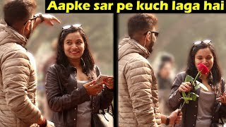 GIVING ROSE TO BEAUTIFUL GIRLS | Rose Day Prank | Unglibaaz