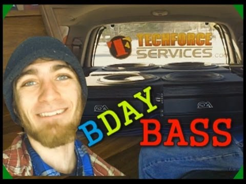 subwoofer - Bassin' for a bagel on my 23rd birthday bash - Thumbs up for bumpin' that BassBoyLowG, Switch, & 'Gangsta Gramps' in Frankenstein! Thanks for joining me on m...