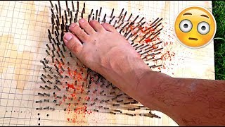 Video WALKING ON A BED OF NAILS CHALLENGE!!! (TERRIBLE IDEA) MP3, 3GP, MP4, WEBM, AVI, FLV April 2018