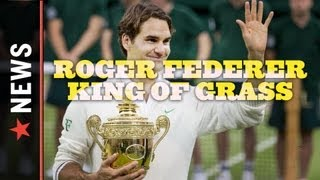 Roger Federer stormed back after losing the opening set to win his seventh Wimbledon title over Andy Murray in four sets on...