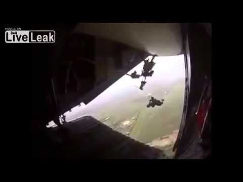 Mexican Paratrooper has a bad day