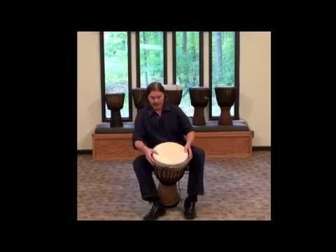 How to Hold Your Djembe : w/ Jim Donovan Drum Circle Leadership
