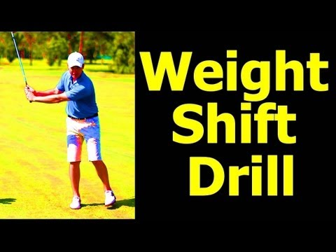 Golf Weight Shift Drill EASY!!!