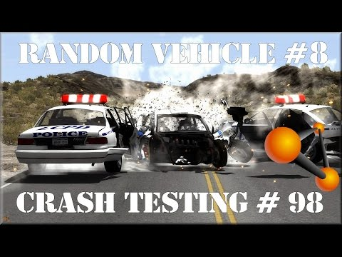 BeamNG Drive Alpha Pre-Race Update 0.3.3 Random Vehicle Crash Testing #98 HD