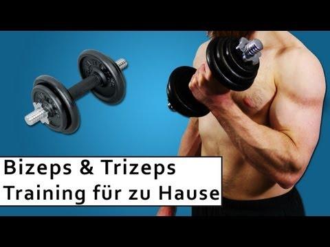 Bizeps und Trizeps Training - Muskelaufbau zuhause - Trainingsplan