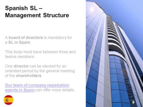 Set up a Limited Liability Company in Spain