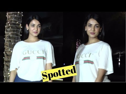Sonal Chauhan Spotted During Dinner At Yauatcha Mumbai